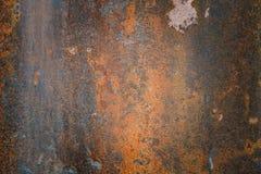 Bakgrunden för grunge för vintag den rostigt texturerade stål Royaltyfri Foto