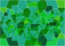 Bakgrunden i form av brutet grönt exponeringsglas, målat glass Arkivbilder