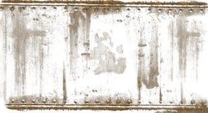 bakgrunden rostade stål Arkivfoto