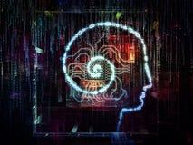 Digital liv av medvetenheten stock illustrationer