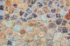 Bakgrunder av stenväggen Arkivfoton