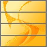 Bakgrunder för baner i uppsättning Arkivbild
