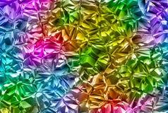 Bakgrunder för crystal exponeringsglas för lättnad mångfärgade glänsande Royaltyfria Foton