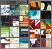 44 bakgrunder för dubbla affärskort Arkivbild