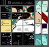 Bakgrunder för dubbla affärskort Fotografering för Bildbyråer