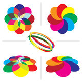 Bakgrunder för färghandbokpalett royaltyfri fotografi