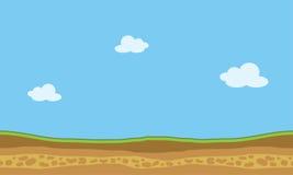 Bakgrunder för lek för vektorlandskapnatur Arkivbild