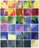Bakgrunder för vektormonotypetextur Arkivfoto