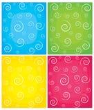 bakgrunder inställd swirl vektor illustrationer