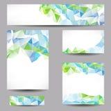 Bakgrunder med abstrakta trianglar Royaltyfri Bild