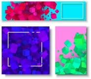 Bakgrunder med modellen för kuber 3d för färg den geometriska vektor illustrationer