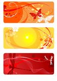 bakgrunder ställde in sommar vektor illustrationer