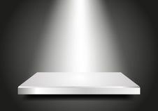 Tomt podium 3D. Presentationsmall för din pr Royaltyfria Bilder