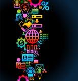 Bakgrundsaffärssymbol Fotografering för Bildbyråer