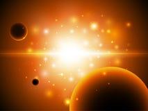 bakgrundsavståndsstjärnor Arkivfoto