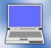 bakgrundsbärbar dator Arkivfoton
