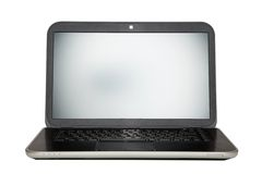 bakgrundsbärbar datorwhite arkivfoton