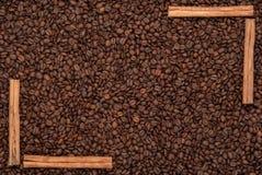 bakgrundsbönakaffe Arkivfoto