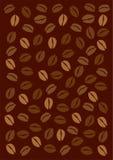 bakgrundsbönakaffe vektor illustrationer