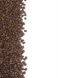 bakgrundsbönor border kaffe royaltyfria bilder