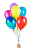 bakgrundsballonger isolerade white Arkivfoton