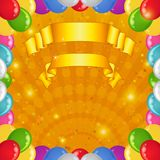 bakgrundsballongferie Royaltyfria Bilder