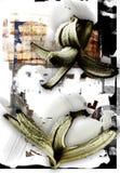 bakgrundsbananer Royaltyfri Fotografi