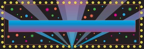 bakgrundsbanerdeltagare stock illustrationer