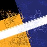 bakgrundsbanerscroll royaltyfri illustrationer