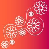 bakgrundsbanret blommar datalistor little rosa spiral Royaltyfri Foto