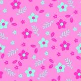 bakgrundsbanret blommar datalistor little rosa spiral Måla gröna och rosa blommor stock illustrationer
