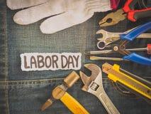 Bakgrundsbegrepp för arbets- dag Arkivbilder