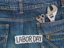 Bakgrundsbegrepp för arbets- dag Arkivfoto