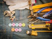 Bakgrundsbegrepp för arbets- dag Arkivbild