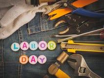 Bakgrundsbegrepp för arbets- dag Fotografering för Bildbyråer