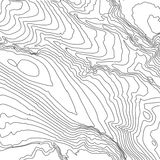 Bakgrundsbegrepp för Topographic översikt med utrymme för din kopia Topografilinjer konstkontur, berg som fotvandrar slingan royaltyfri illustrationer