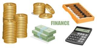 bakgrundsbegreppet bantar guld- äggfinans stock illustrationer