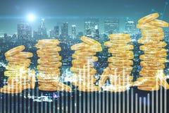 bakgrundsbegreppet bantar guld- äggfinans royaltyfri bild