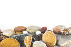 bakgrundsbegreppet stenar den vita zenen Arkivbild