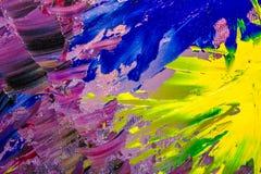 Bakgrundsbild av den ljusa olja-målarfärg palettcloseupen Royaltyfria Foton