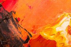 Bakgrundsbild av den ljusa olja-målarfärg palettcloseupen Bakgrund stock illustrationer