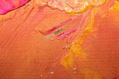 Bakgrundsbild av den ljusa olja-målarfärg palettcloseupen Bakgrund vektor illustrationer