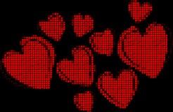 Bakgrundsbild med hjärtor Arkivbilder