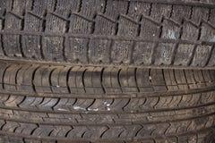 bakgrundsbildesignen tires vektorn Förbereda bilen för vintern Royaltyfria Bilder