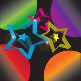 Bakgrundsbildstjärnorna Arkivfoton