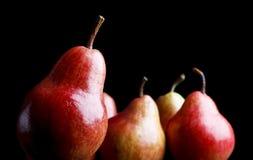bakgrundsblack över pears Fotografering för Bildbyråer