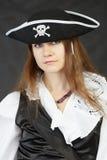 bakgrundsblack piratkopierar kvinnan Arkivfoto
