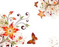 bakgrundsblommagrunge Royaltyfria Bilder