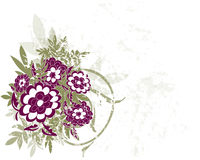 bakgrundsblommagrunge Royaltyfri Bild