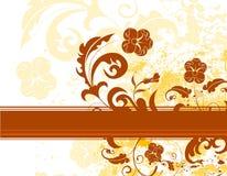 bakgrundsblommagrunge royaltyfri illustrationer